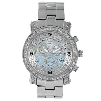 Diamond Watches Mens Diamond Aqua Master Watch 3.60ct Diamond Watches Mens Diamond Aqua Master Watch 3.60ct