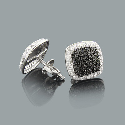 Discount Diamond Earrings 0.22ct Sterling Silver Main Image