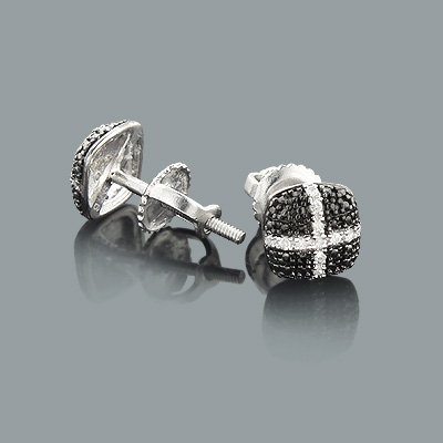 Discount Diamond Earrings in Sterling Silver 0.11ct Main Image