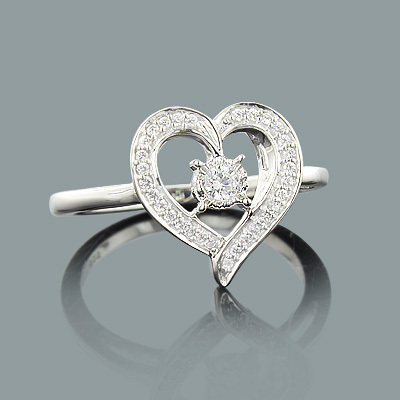 Engagement Heart Ring with Diamonds 0.21ct 10K Gold engagement-heart-ring-with-diamonds-021ct-10k-gold_1