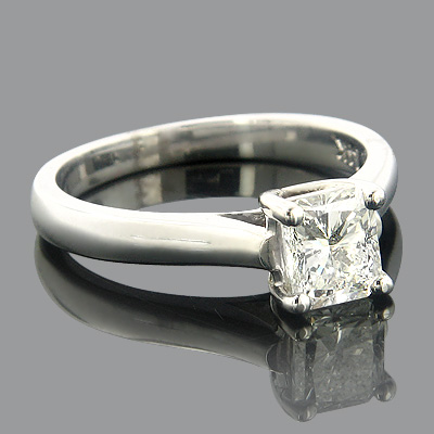 Thin Engagement Ring Settings Classic 14K Gold Ring Mounting