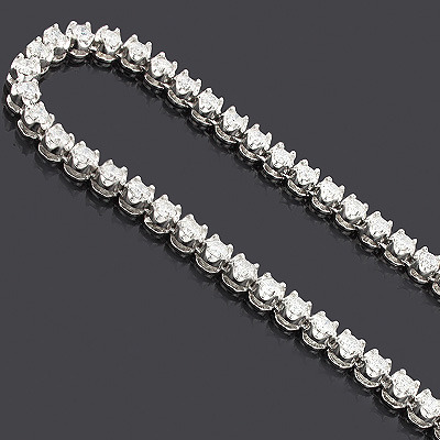 Eternity Diamond Necklace Chain 14K 25.03ct Main Image