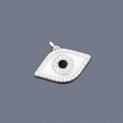 Evil Eye Jewelry: 14K Diamond Evil Eye Charm 0.43ct Main Image