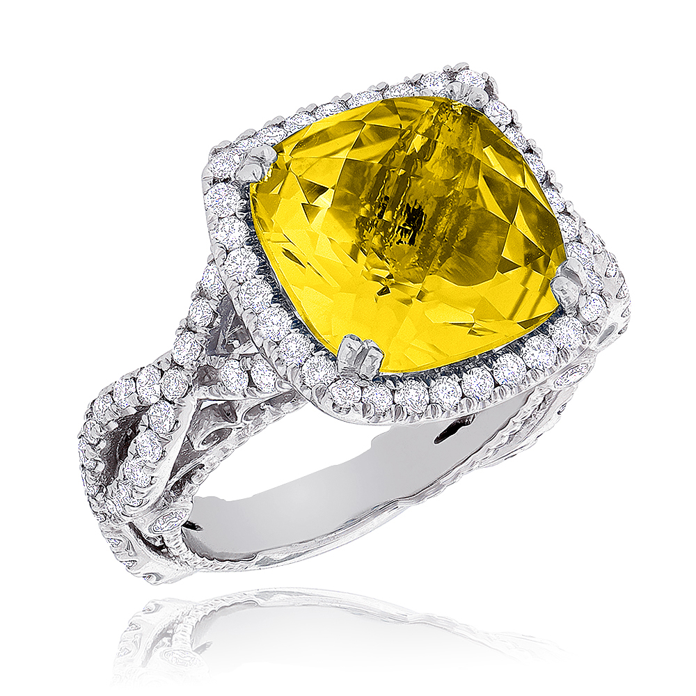 Fine Gemstone Jewelry: Citrine Diamond Cocktail Ring 11ct fine-gemstone-jewelry-citrine-diamond-cocktail-ring-11ct_1