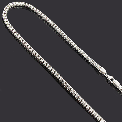 "Franco Chain in Silver 36"" 3mm Main Image"