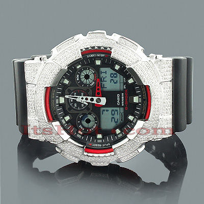 G-Shock Diamond Watch GA100 5.60ct Casio Watches G-Shock Diamond Watch GA100 5.60ct Casio Watches