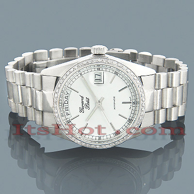 Geneve Watches Solid White Gold Watch w Diamonds 0.75ct Main Image