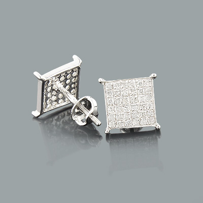 Genuine Diamond Earrings 0.36ct Sterling Silver Main Image