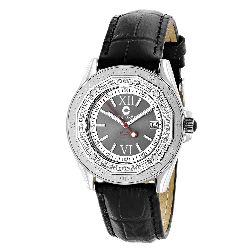 Genuine Diamond Watch by Centorum Falcon 0.5ct Black