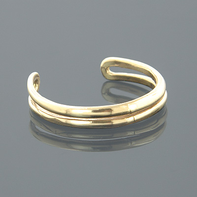 Thin Gold Body Jewelry Adjustable 14K Solid Gold Toe Ring Main Image