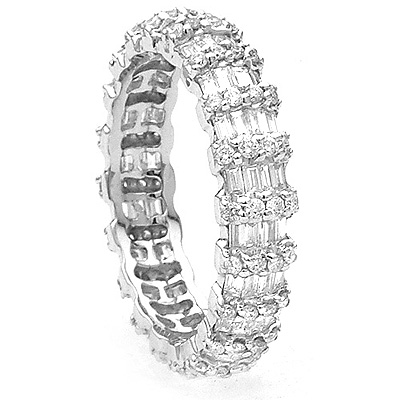 Gold Designer Diamond Eternity Bands Collection 1.95ct