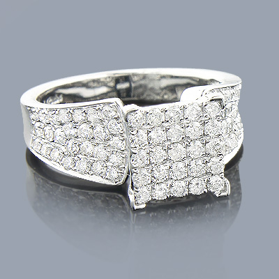 Gold Diamond Engagement Ring 1.59ct 14K Main Image