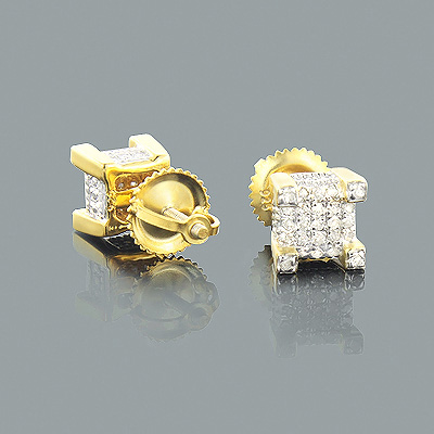 Gold Plated Silver Diamond Earrings 0.35ct Main Image