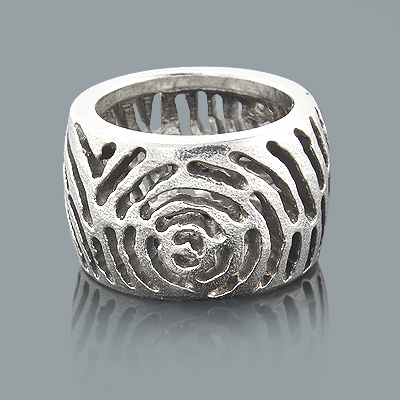 Handcrafted Silver Jewelry: Cutout Design Ring Handcrafted Silver Jewelry: Cutout Design Ring