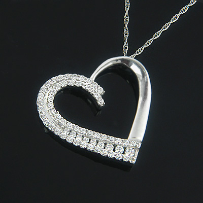 Heart Jewelry 14K Designer Diamond Heart Pendant 0.56ct Main Image