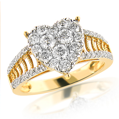 Heart Shaped Jewelry: 14K Diamond Heart Ring 1.5ct heart-shaped-jewelry-14k-diamond-heart-ring-15ct_1