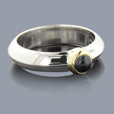 Hematite 18K Sterling Silver Ring Main Image
