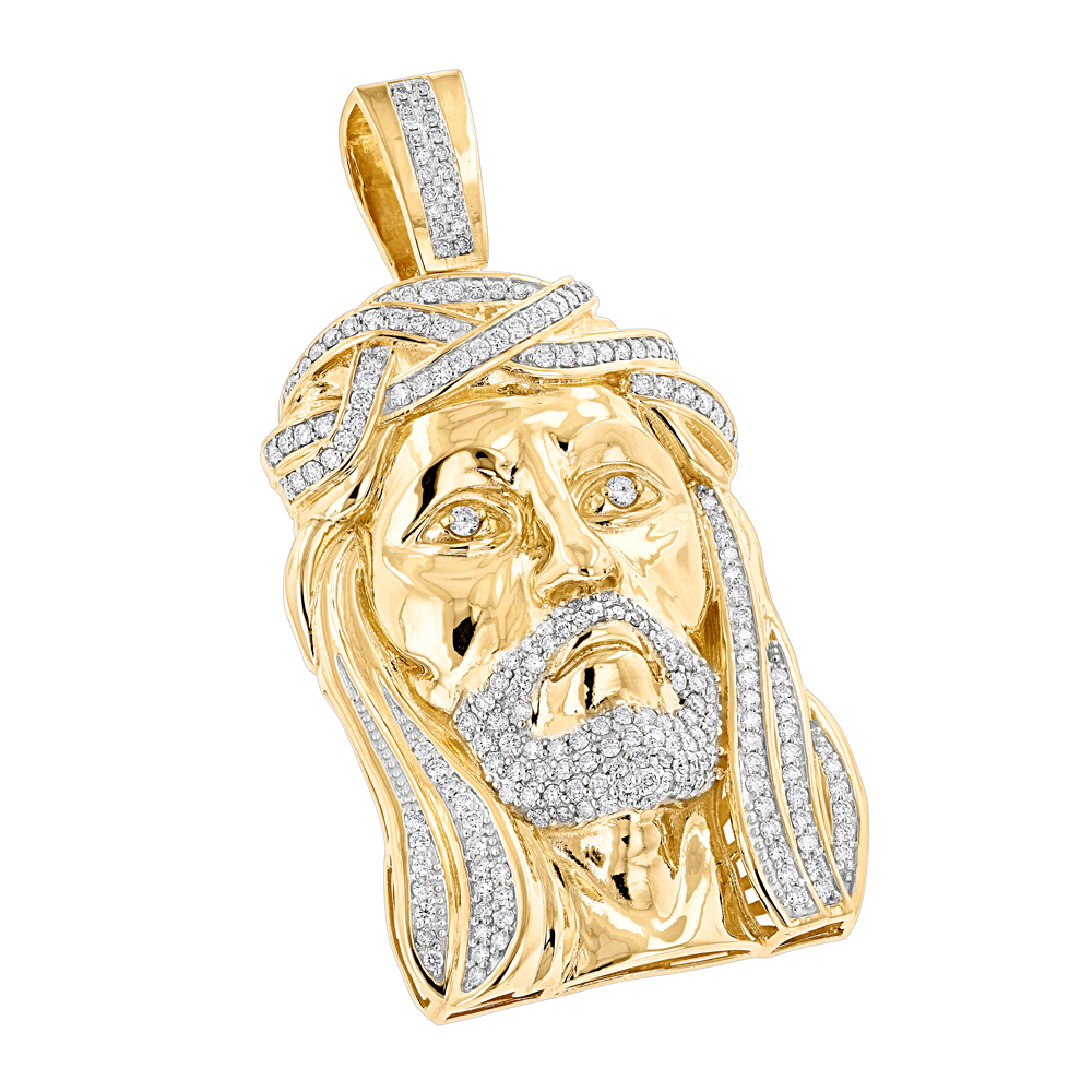 jesus micro dp pendant piece gold iced amazon out com clothing canary mini cz