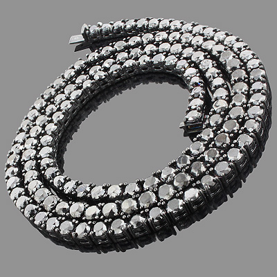 Hip Hop Jewelry: Men's 10K Black Diamond Chain 125.20ct Hip Hop Jewelry: Men's 10K Black Diamond Chain 125.20ct