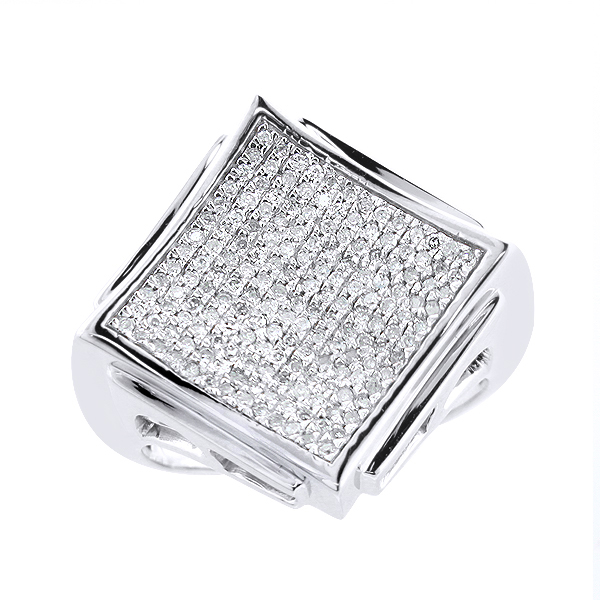 Hip Hop Jewelry: Mens Diamond Ring 0.62ct 10K Gold Main Image