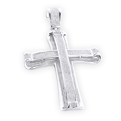 hip hop jewelry silver mens diamond cross pendant. Black Bedroom Furniture Sets. Home Design Ideas
