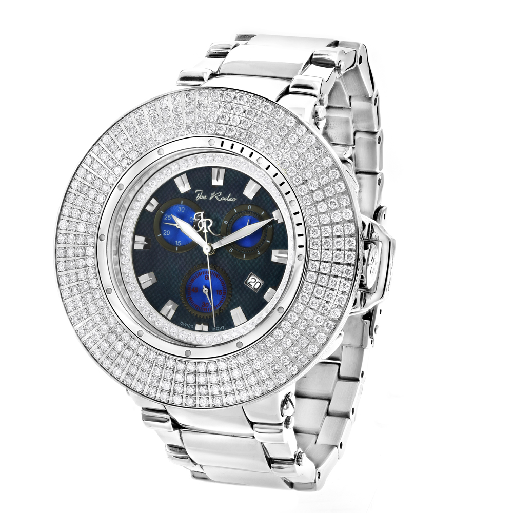Hip Hop Watches: Joe Rodeo Razor Mens Iced Out Diamond Bezel Watch 10.4ct Main Image