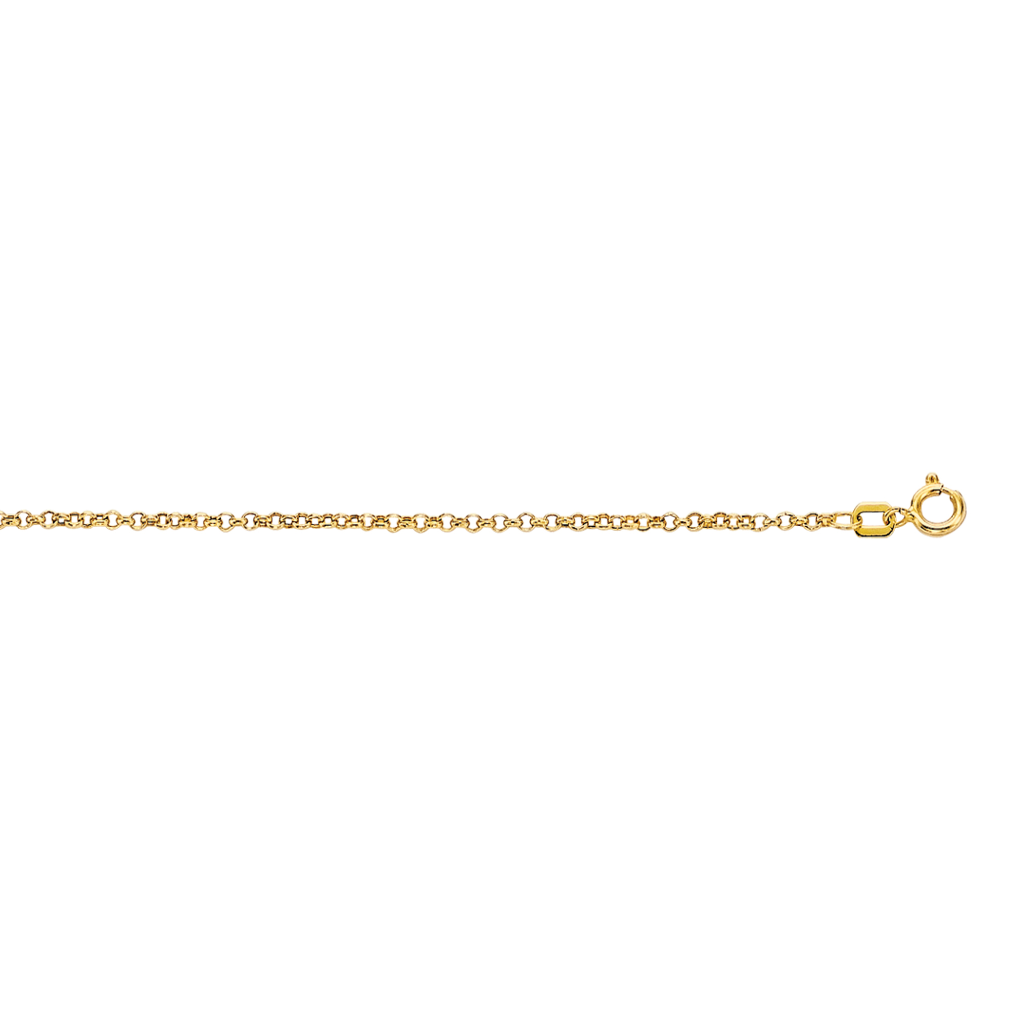 Hollow 10k Gold Rolo Chain For Men & Women 1.9mm Wide Yellow Image