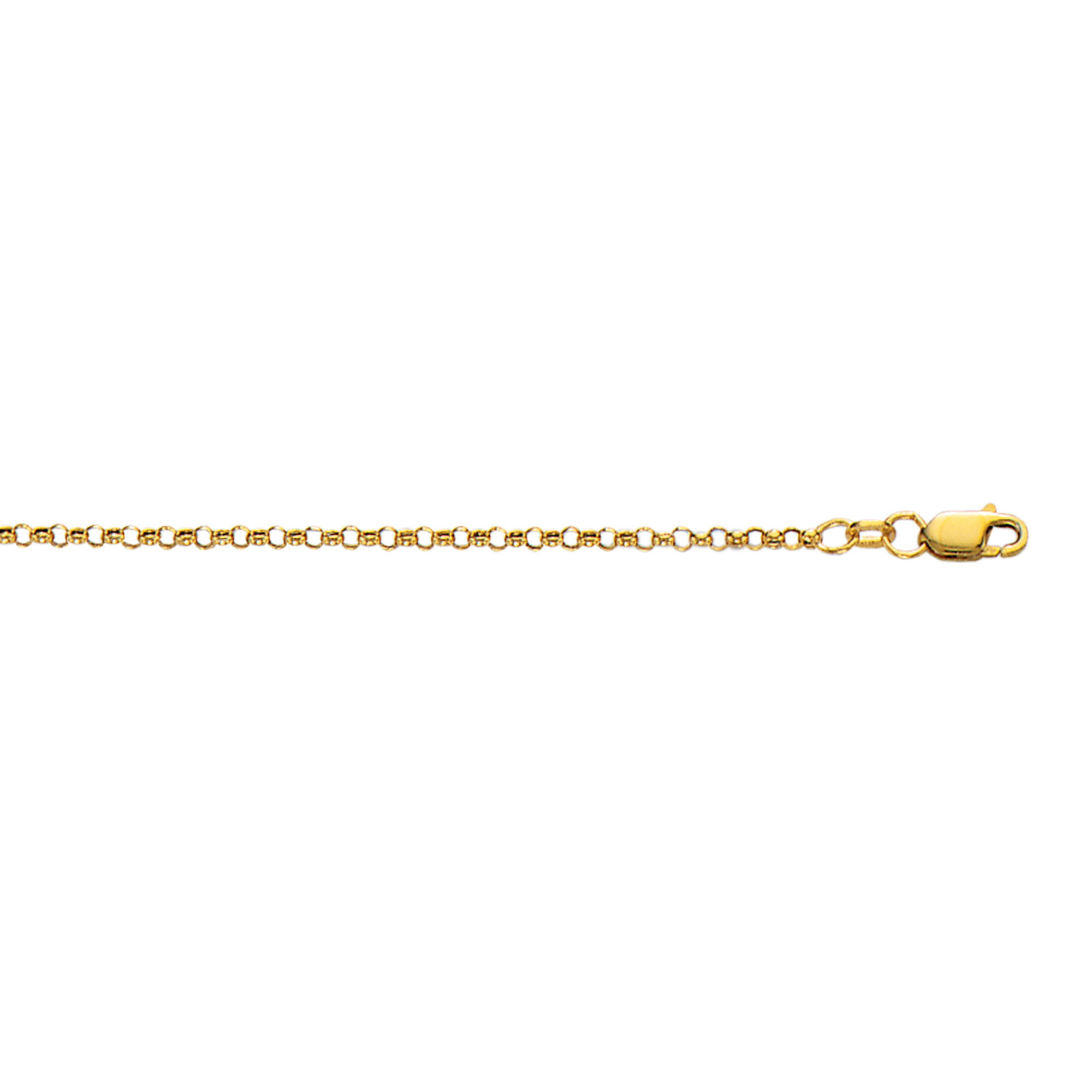 Hollow 10k Gold Rolo Chain For Men & Women 2.3mm Wide Yellow Image