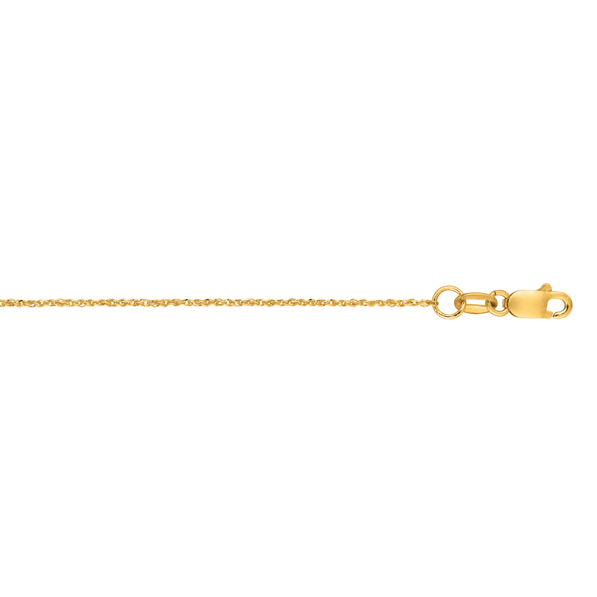 Hollow 10k Gold Ropa Chain For Women 0.9mm Wide Yellow Image