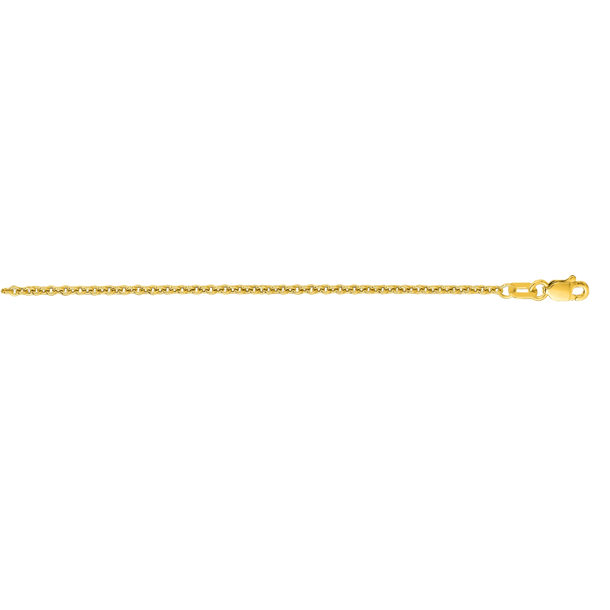 Hollow 14k Gold Forsantina Chain For Men & Women 1.9mm Wide Yellow Image