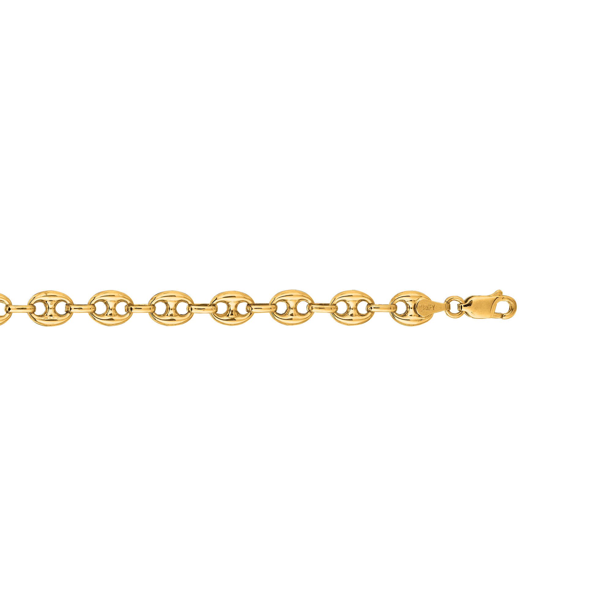Hollow 14k Gold Gucci Chain For Men & Women Mariner Puffed 11mm Wide Yellow Image