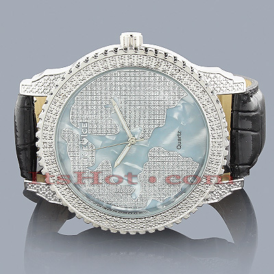Ice Ice Stargate Mens Diamond Watch Ice Time 0.10