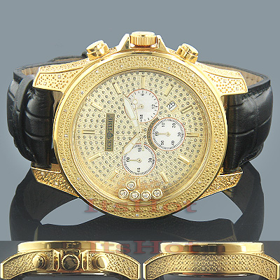 Ice Time Mens Floating Diamond Watch 0.50ct Yellow Main Image