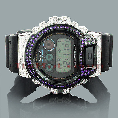 Iced Out Casio G-Shock Watch with Crystals