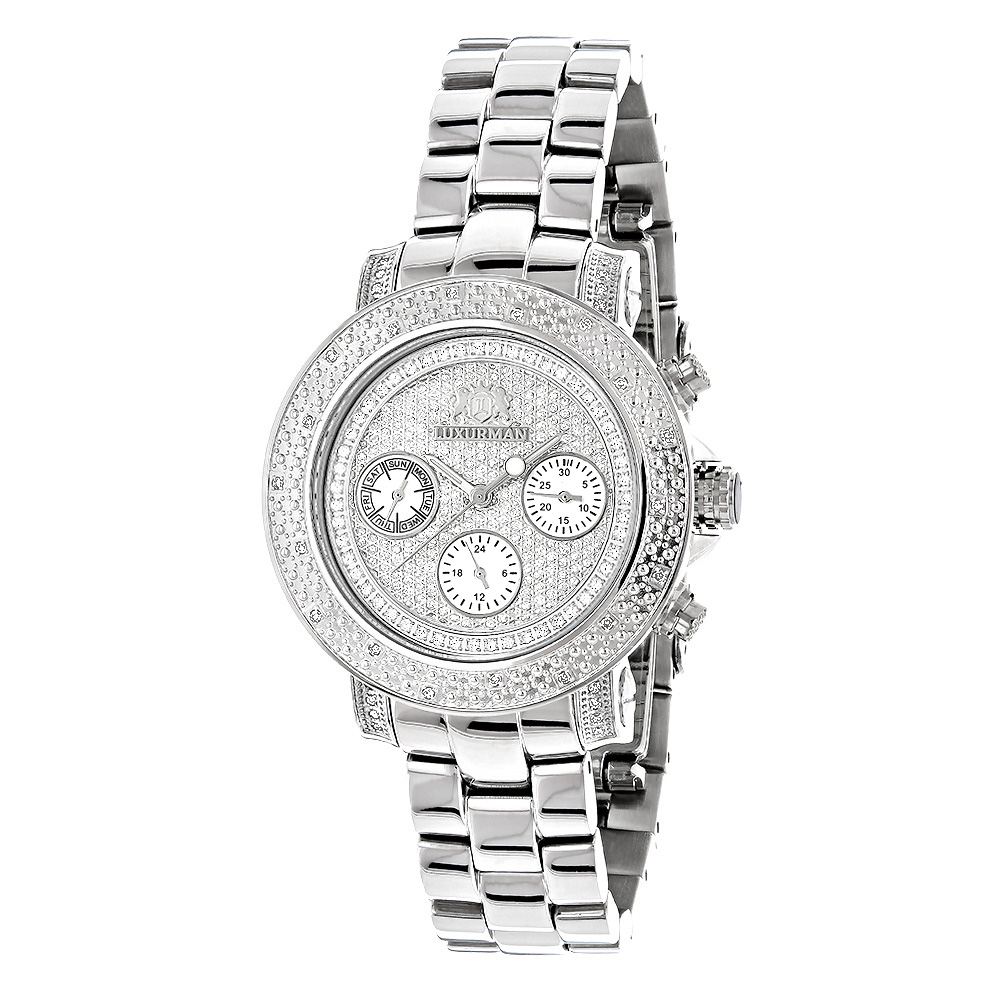 Iced Out Diamond Watches 0.3ct Luxurman Diamond Watch For Women Main Image