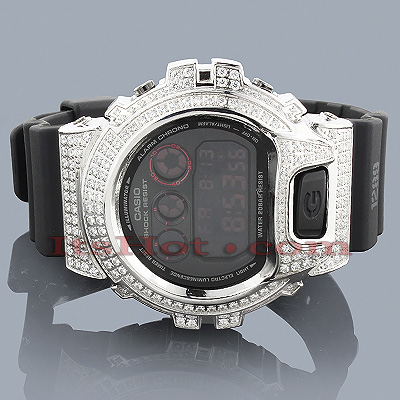Iced Out G-Shock Diamond Simulation DW6900 Main Image