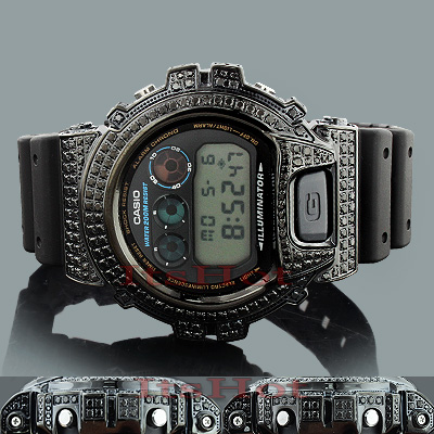 Iced Out G SHOCK Watches: Black Diamond Watch 4.50ct  Main Image