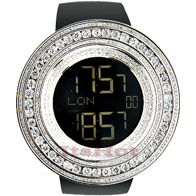 Iced Out Hip Hop Watches: TechnoLink Mens Crystal Watch