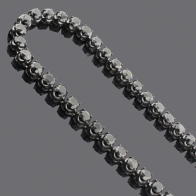Iced Out Jewelry: Men's 10K Black Diamond Chain 140.55