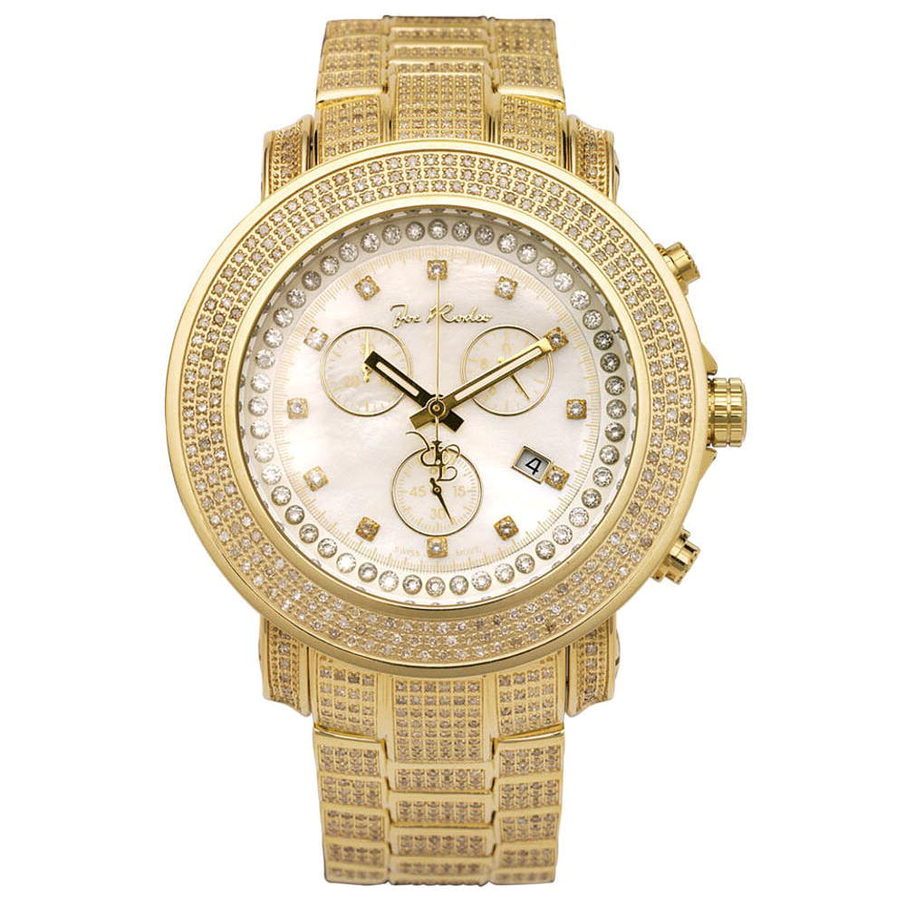 Iced Out Joe Rodeo Watches: Diamond Band Watch 11.50ct Junior