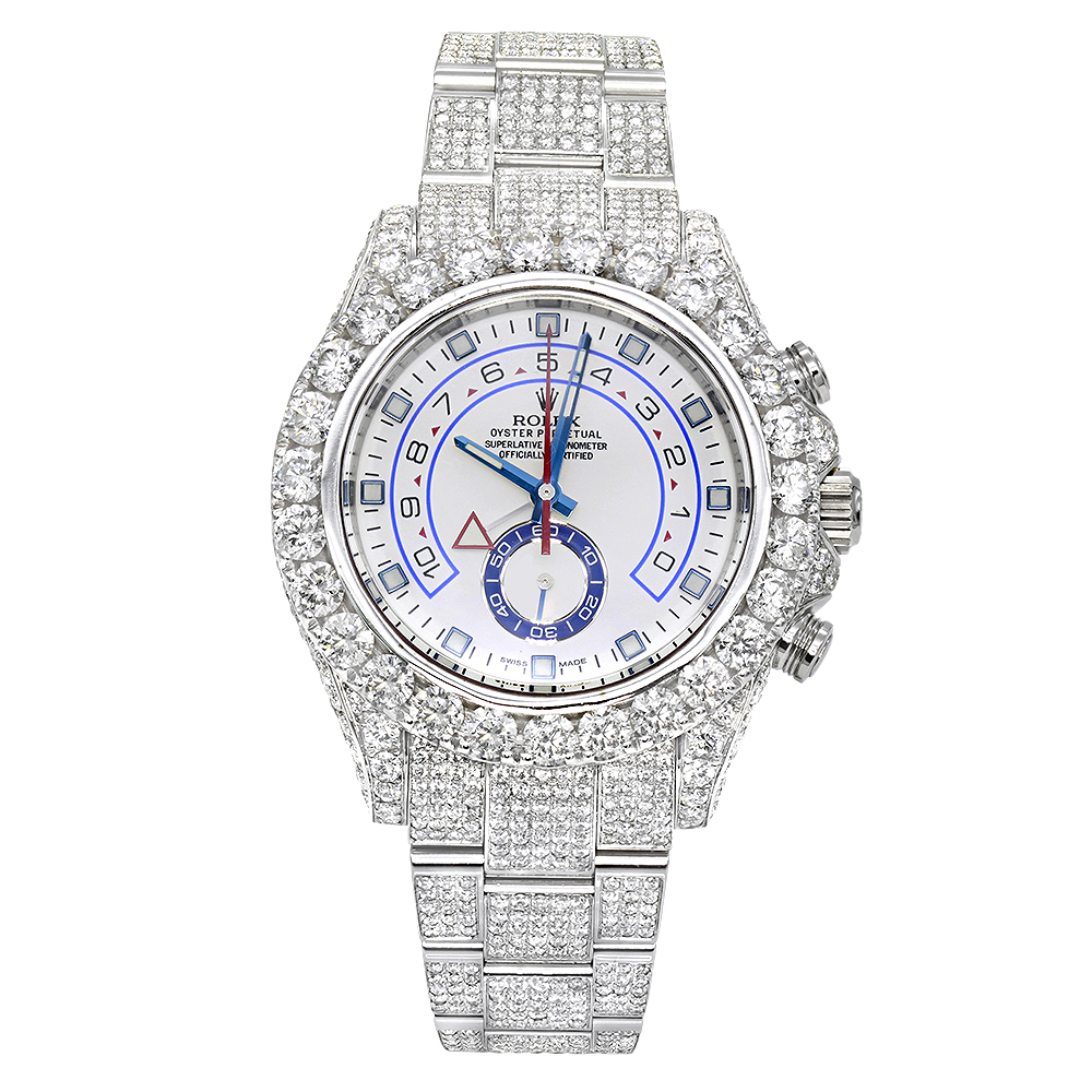 Iced Out  Rolex Oyster Perpetual Mens Diamond Watch 23ct Main Image