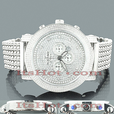 Iced Out Watches for Men: ICETIME Diamond Watch 8ct Main Image