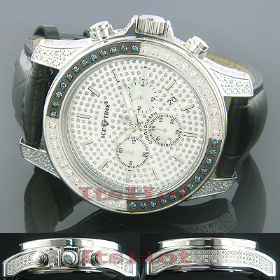 Iced Out Watches Ice Time Iceberg Mens Watch 2.50ct