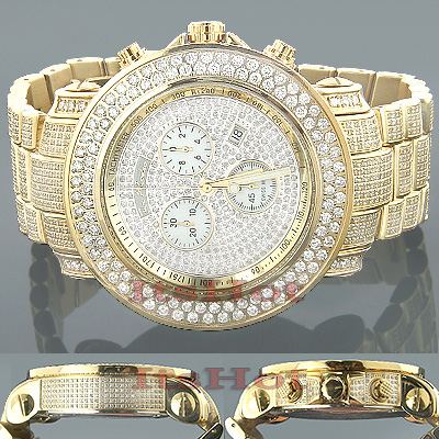 Iced Out Watches Joe Rodeo Junior Diamond Watch 19.5ct Main Image