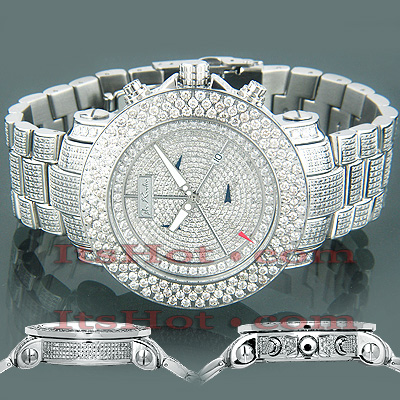 Iced Out Watches Joe Rodeo Junior Diamond Watch 22ct Main Image
