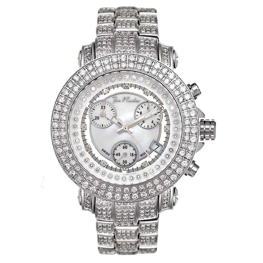 Iced Out Watches Joe Rodeo Ladies Diamond Watch 10ct Main Image