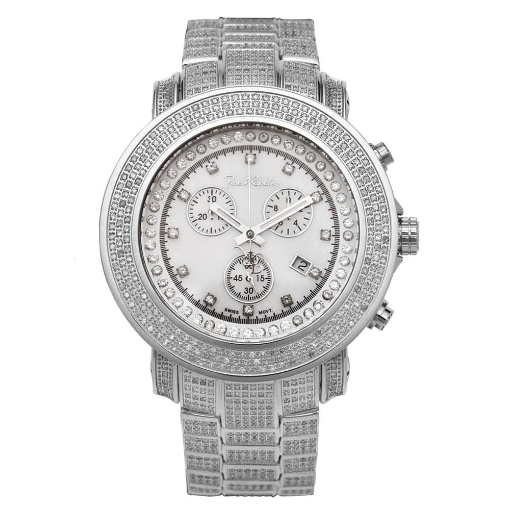Iced Out Watches: Joe Rodeo Mens Diamond Watch 11.50ct Junior Main Image