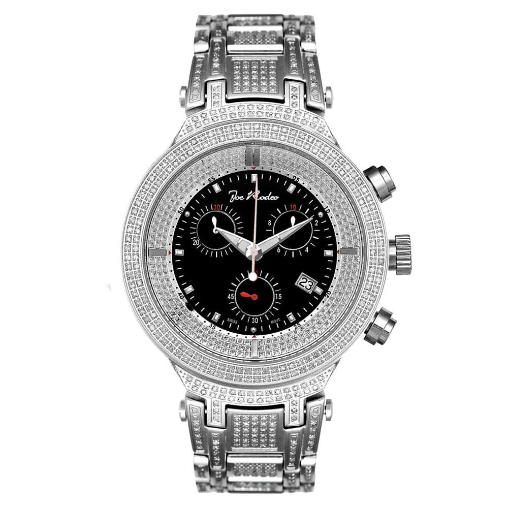 Iced Out Watches Joe Rodeo Mens Diamond Watch 4.75ct Main Image