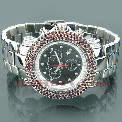 Iced Out Watches Joe Rodeo Red Diamond Watch 8.75ct Main Image
