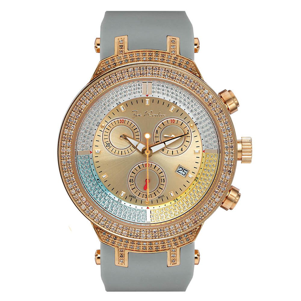 Iced Out Watches Mens JoJo Diamond Watch 2.2ct Master Main Image